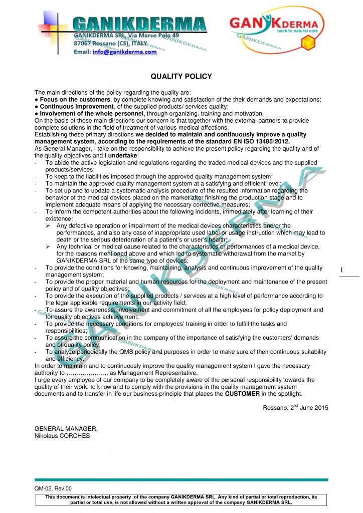 GANIKDERMA-Quality-Policy
